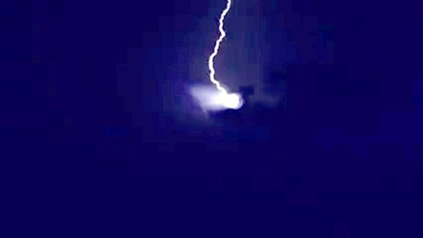 ufo lightning austria, ufo hit by lightning austria, lightning hits ufo austria, austria ufo lightning