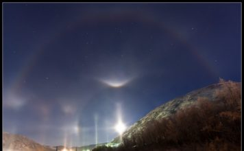 mysterious double halo november suoermoon, strange halo supermoon, double halo supermoon november, november double halo supermoon,