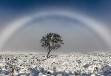 fogbow, fogbow uk, fogbow schottland, fogbow Magical white rainbow also known as fogbow captured in the Scottish mountains, fogbow scottland uk