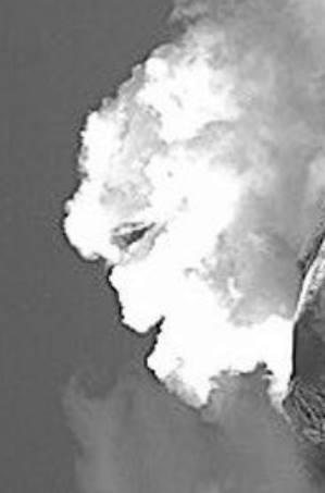 sourire volcan Popocatepetl, le visage du volcan Popocatepetl, volcan Popocatepetl visage souriant, popocatepetl visage souriant de fumée du volcan, alien visage popocatepetl