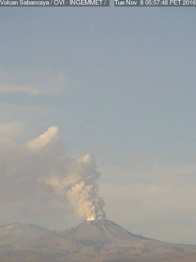 sabancaya volcano, sabancaya volcano eruption, sabancaya volcano eruption nov 2016, sabancaya volcano erupts after 18 years, sabancaya volcano explodes twice nov 2016