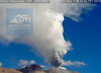 sabancaya volcano, sabancaya volcano eruption, sabancaya volcano eruption nov 2016, sabancaya volcano erupts after 18 years, sabancaya volcano explodes twice nov 2016
