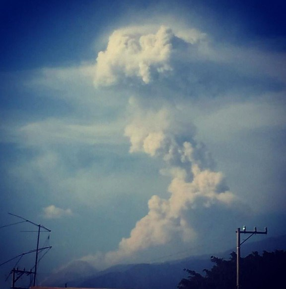 Colima volcano eruption on December 24, 2016.