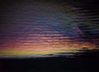 iridescent clouds colorado night, iridescent clouds colorado, moonbow colorado, iridescent clouds and moonbow colorado