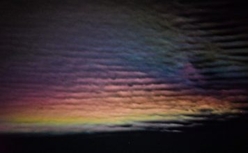 iridescent clouds colorado night, iridescent clouds colorado, moonbow colorado, iridescent clouds and moonbow colorado