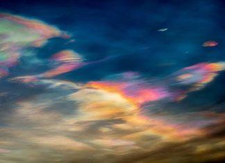 nacreous clouds, polar stratospheric clouds, murmansk nacreous clouds, nacreous clouds december 2016, nacreous clouds december 2016 pictures