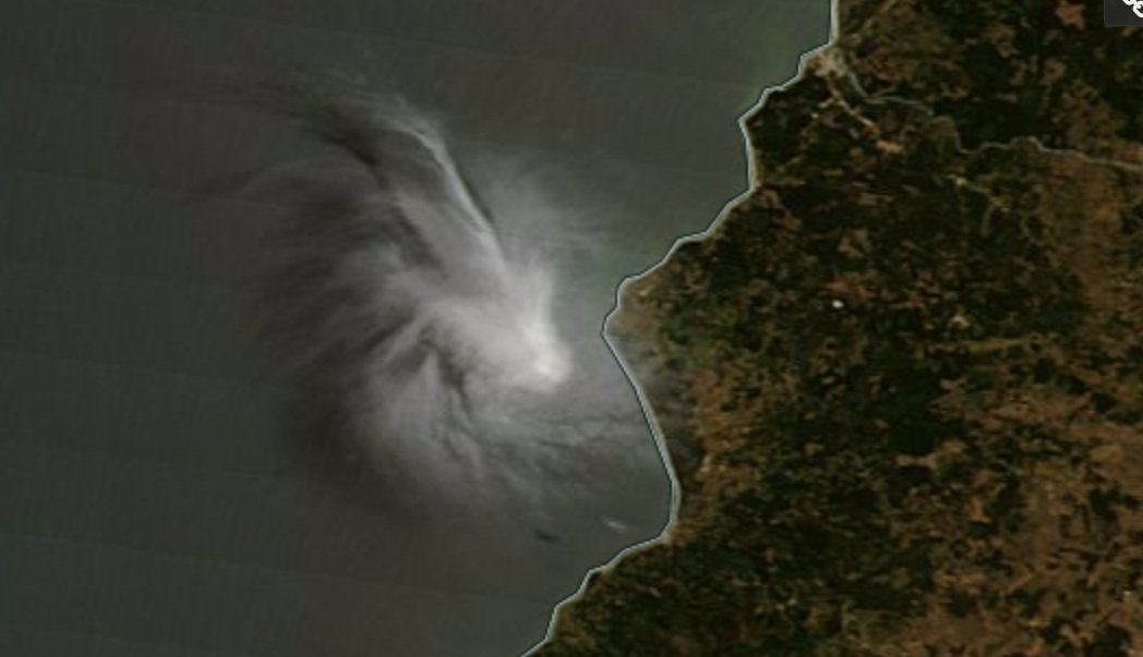 strange rotating cloud chile, rotating cloud chile, mysterious clouds chile, strange cloud chile, rotating clouds chile, A series of strange rotating clouds engulfed the sky of Chile on December 6, 2016