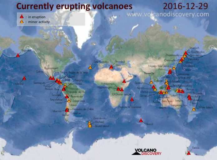 volcanic eruption, volcanic eruption news, current volcanic eruption, erupting volcanoes, current eruption map