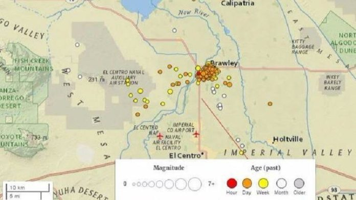 More than 250 earthquakes have rattled the Brawley Seismic Zone near the California-Mexico border since December 31, 2016 and it is not stopping. , earthquake swarm brawley, earthquake swarm california-mexico boarder