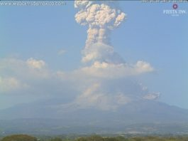 colima, colima eruption, colima eruption 2017