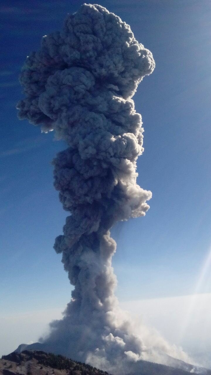 Colima eruption on January 23, 2017. Picture by PC Jalisco