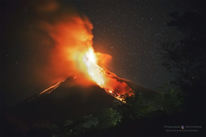 fuego, fuego volcano, fuego eruption january 2017