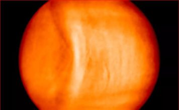 largest gravity wave solar system venus, Large stationary gravity wave in the atmosphereof Venus, gravity wave venus, venus atmosphere gravity wave, This strange stationary 6,000-mile-long gravity wave was discovered in Venus' atmosphere and is the largest ever found in the solar system