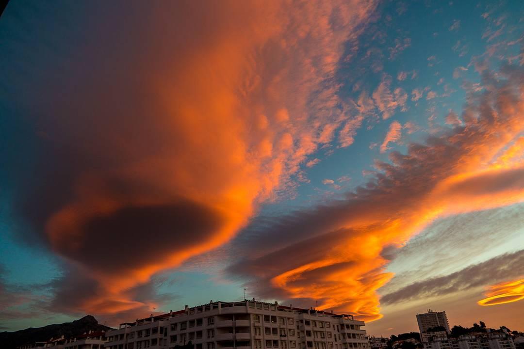 lenticular clouds malaga,  lenticular clouds spain,  lenticular clouds malaga spain january 2017 pictures
