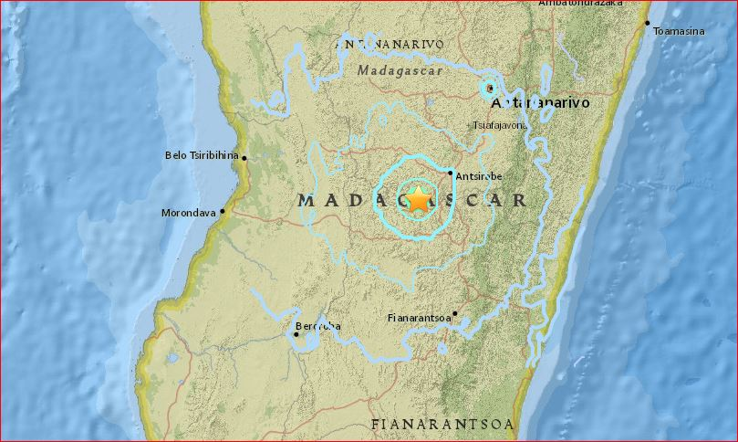 Rare m55 earthquake shakes madagascar 8th strongest quake in earthquakes are rare but not uncommon in madagascar this is the 8th largest quake in madagascars history the strongest having struck more than 67 years gumiabroncs Images