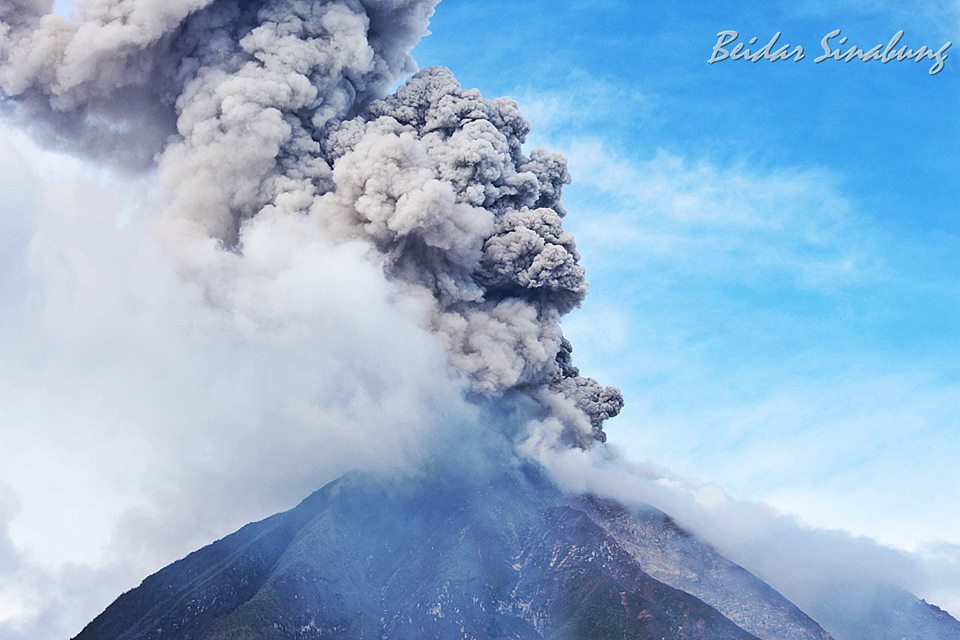 The Sinabung volcano in Indonesia erupted on January 27, 2017