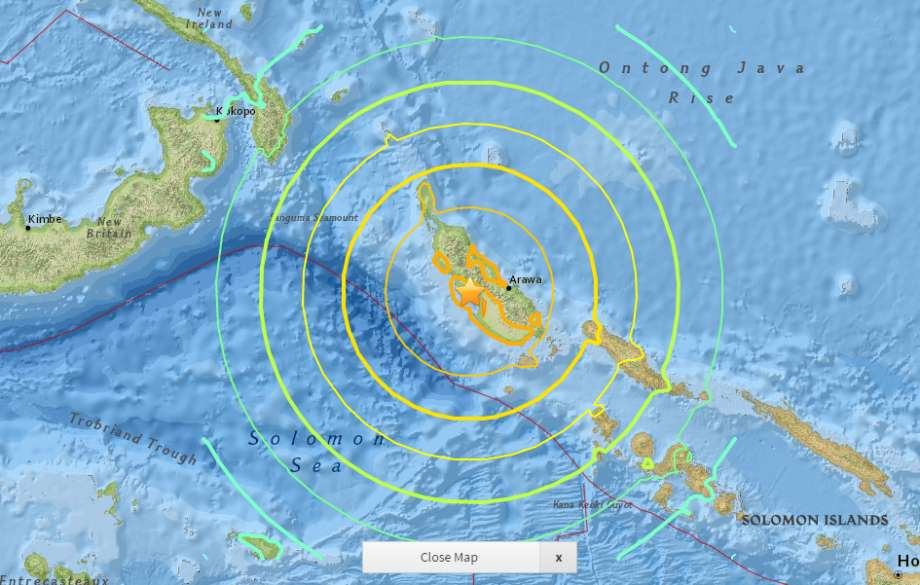 strong earthquake solomon islands, solomon islands earthquake, earthquake january 22 2017, strong earthquake january 22 2017, latest earthquake january 2017