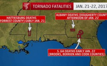 us tornado 2017, us tornado outbreak 2017, us tornado outbreak deadliest since 1969, deadliest trnado outbreak in us since 1969