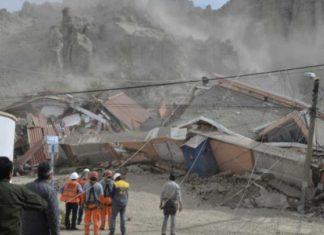 bolivia landslide, bolivia landslide pictures, bolivia landslide video, bolivia landslide february 2017 pictures and videos