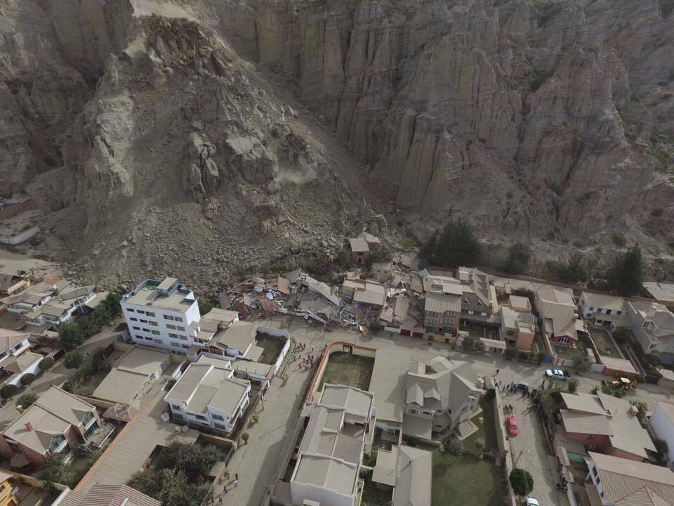 bolivia landslide, bolivia landslide pictures, bolivia landslide video, bolivia landslide february 2017 pictures and videos