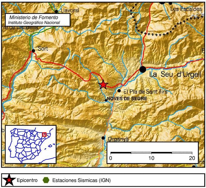 Big Map Of Spain.300 Earthquakes Hit Noves De Segre Spain Same Seismic Activity As