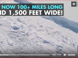 giant ice crack antarctica video, giant ice crack antarctica, ice crack antarctica, antactica ice crack video