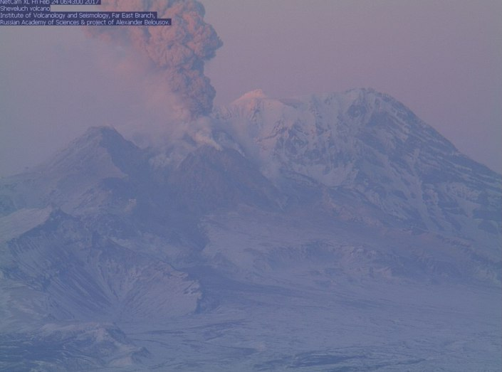 sheveluch eruption, sheveluch eruption february 24 2017, sheveluch eruption february 2017, sheveluch eruption pictures, sheveluch eruption video