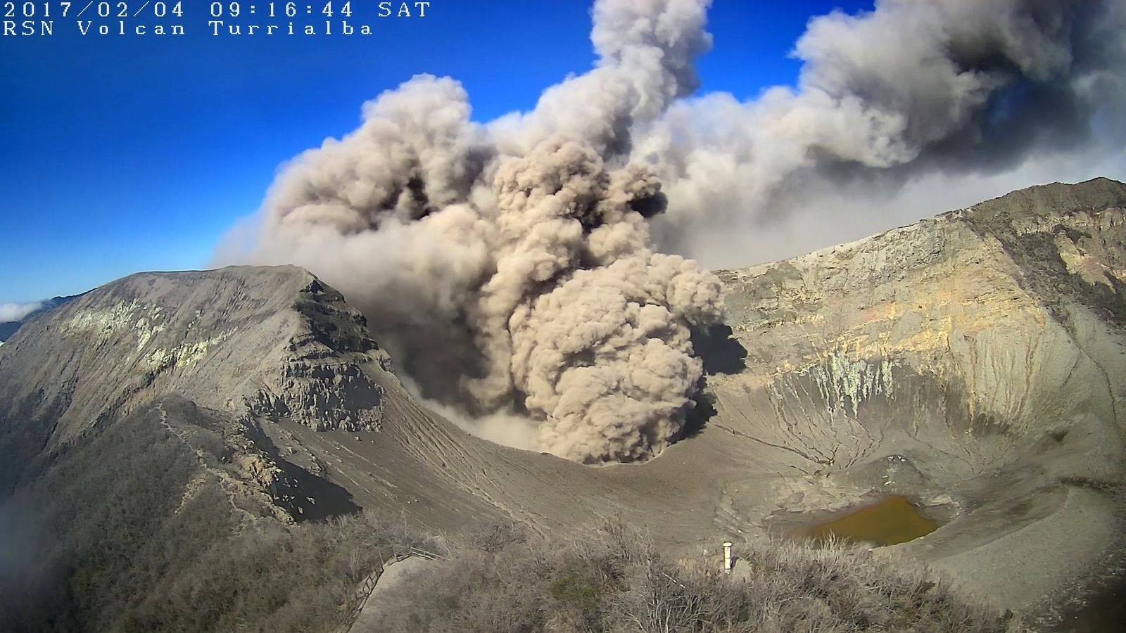 The Turrialba volcano in Costa Rica is experiencing an enhanced activity since February 2, 2017