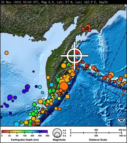 M6.6 earthquake kamchatka march 29 2017, M6.6 earthquake kamchatka march 29 2017 map, Strong and shallow M6.6 earthquake hits Kamchatka