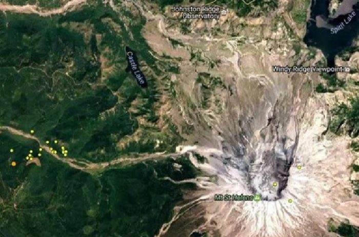Two earthquakes hit near  Mt. St. Helens and Tacoma on March 10, 2017, quake Mt. St. Helens merch 2017, two earthquakes hit Mt. St. Helens