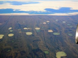 giant crater permafrost, giant crater permafrost video, giant crater permafrost photo, giant crater permafrost thawing canada hudson bay canada