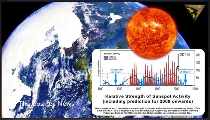 mini ice age, grand solar minimum, Signs of the starting mini ice age or grand solar minimum