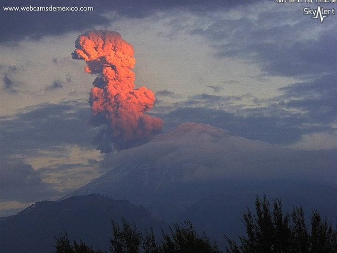 popocatepetl eruption, popocatepetl eruption march 2017, popocatepetl eruption video