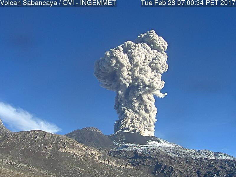 sabancaya eruption, sabancaya eruption picture, sabancaya eruption video, sabancaya eruption february 2017