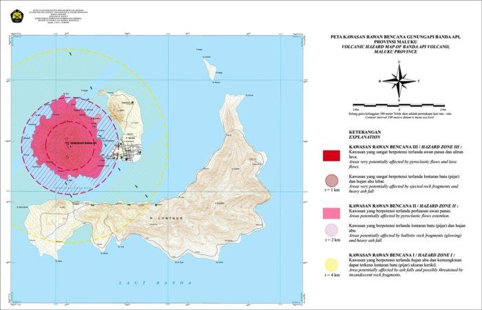 Banda Api volcano, Banda Api volcano eruption april 2017, Banda Api volcano seismic unrest april 2017, evacuaton banda api april 2017