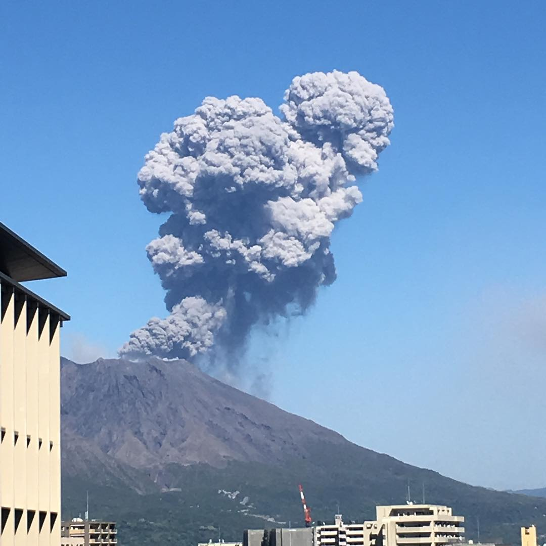 eruzione Sakurajima il 28 Aprile 2017