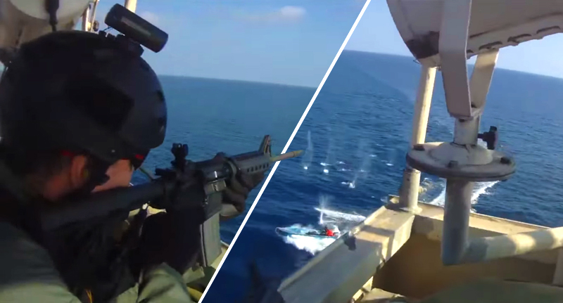 Somali Pirates Try to Board a Cargo Ship With Private Security Guards