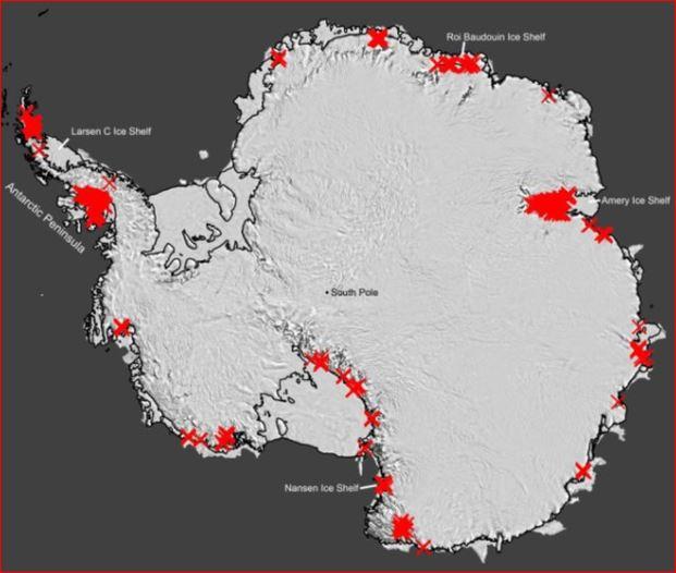 Water streaming across Antarctica worries scientists, antarctica melting, antarctica melting picture, antarctica melting video,