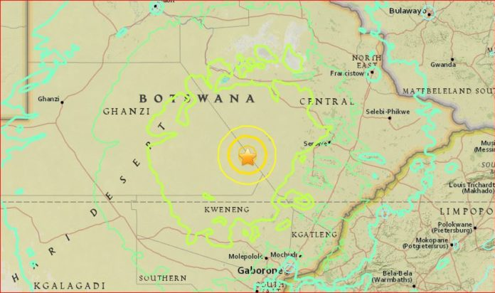 earthquake botswana april 3 2017, M6.5 earthquake botswana april 3 2017, strong earthquake botswana april 3 2017