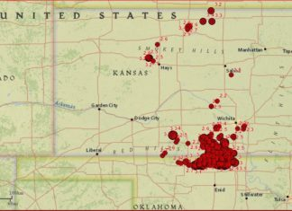 earthquake kansas april 2017, A M3.4 earthquake hit Mankato, Kansas on April 4, 2017