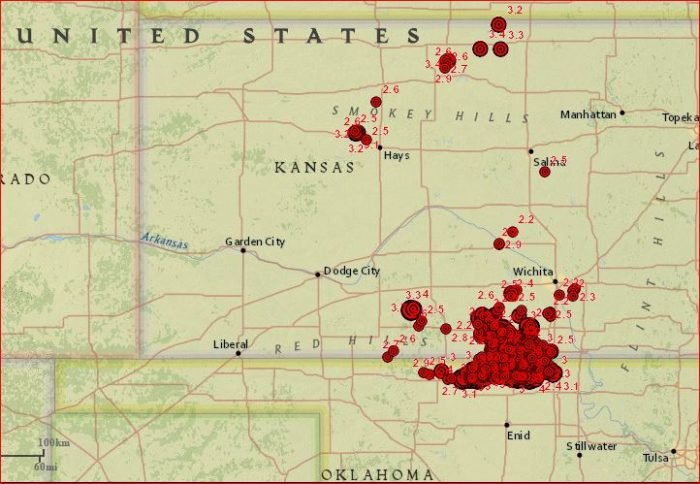 earthquake kansas april 2017, A M3.4 earthquake hit  Mankato, Kansas on April 4, 2017