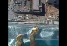 glass bottom pool houston, glass bottom pool houston video, glass bottom pool market square tower houston