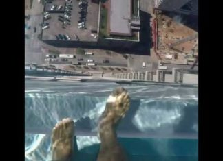 glass bottom pool houston, glass bottom pool houston video, glass bottom pool market square tower houston