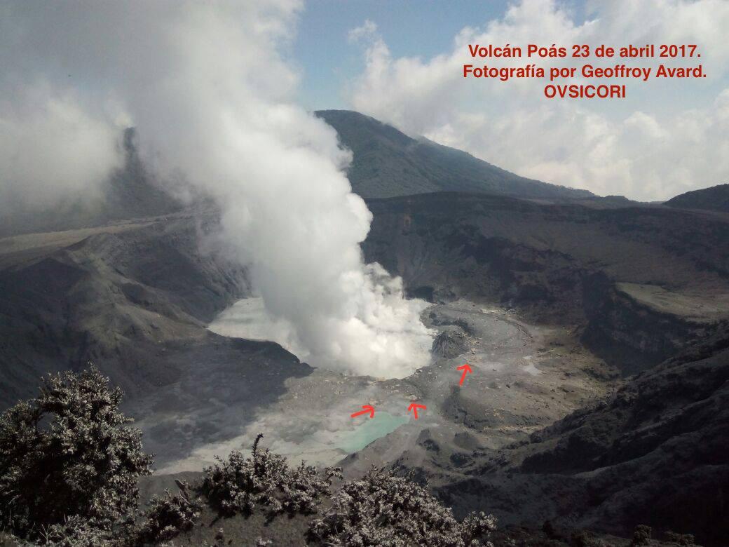 poas volcano, poas volcano eruption, poas volcano eruption april 2017