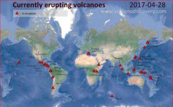 currently erupting volcano, currently erupting volcano worldwide, latest volcanic eruption, volcanic eruption worldwide, map volcano eruption worldwide
