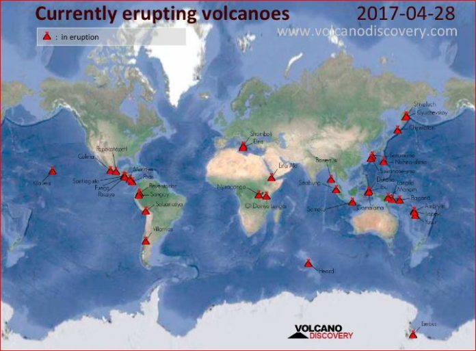 currently erupting volcano, currently erupting volcano worldwide, latest volcanic eruption, volcanic eruption worldwide, map volcano eruption worldwide