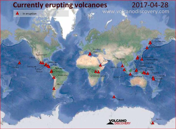 attualmente in eruzione vulcano, attualmente in eruzione vulcano in tutto il mondo, l'ultima eruzione vulcanica, eruzione vulcanica in tutto il mondo, mappa eruzione del vulcano in tutto il mondo