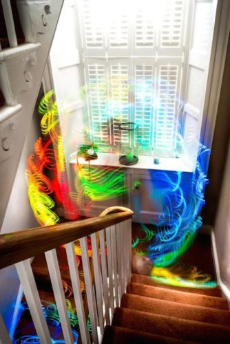 Image of wifi signals in color, This is what a WiFi bombardment looks like in real, wifi color, ghost wifi signal, wifi pictures