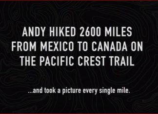 Andy Davidhazy, Andy Davidhazy pacific crest trail selfie video, Andy Davidhazy hiked 2600 miles from Mexico to Canada on the Pacific rest Trail and took a selfie eery single mile