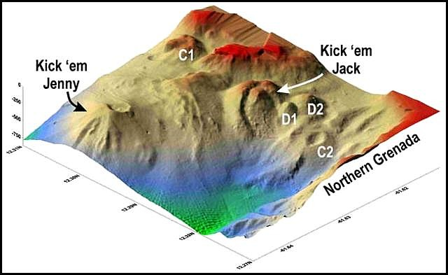 Kick 'em Jenny, Kick 'em Jenny eruption, Kick 'em Jenny carribean eruption 2017, eruption Kick 'em Jenny april 30 2017